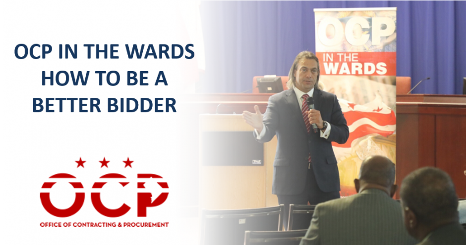 OCP in the Wards - How To Be A Better Bidder Post Event Graphic
