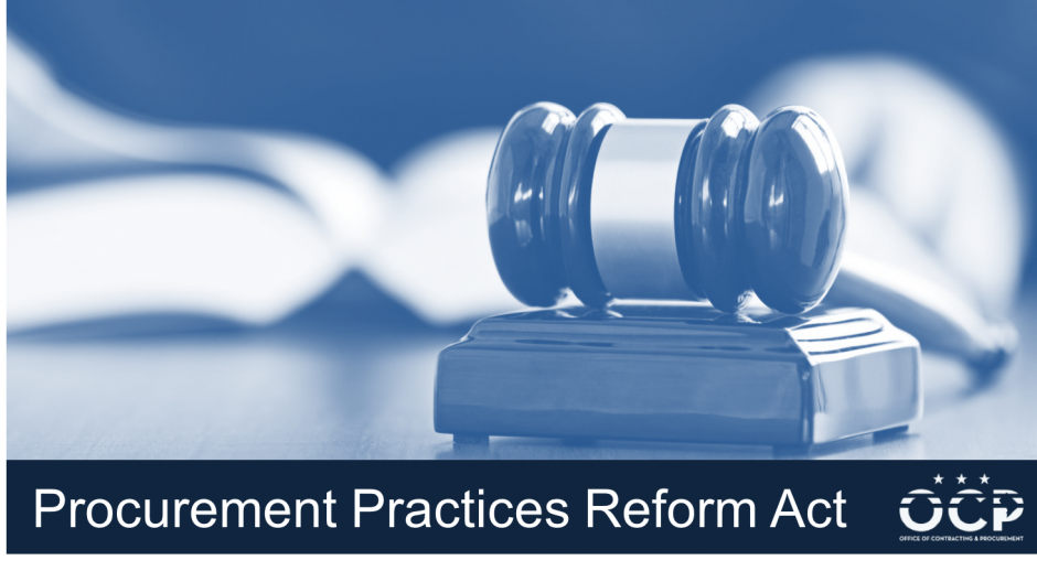 Procurement Practices Reform Act Graphic