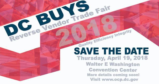 Text reading DC BUYS Reverse Vendor Trade Fair